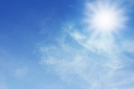 sky croud and sun Stock Photo