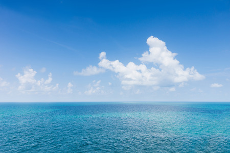 simple sea and blue sky and cloud