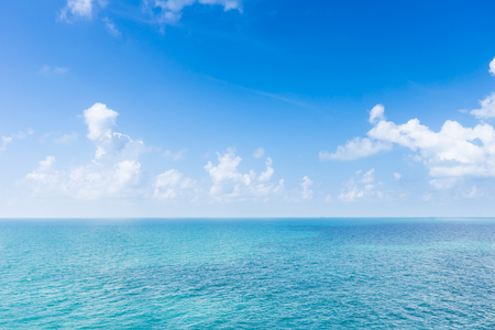 sea scape with cloud in the blue sky. this image suitable to traveling advertisement or nature.