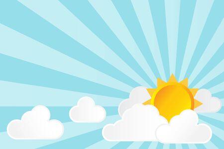 sky sun: sun cloud and sky