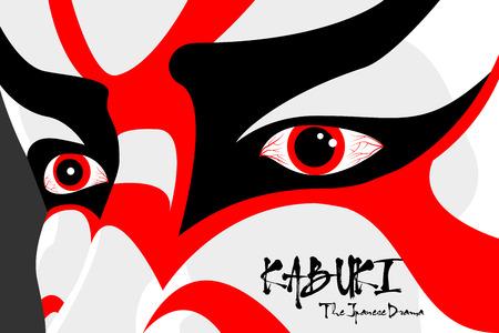 Japanse drama Kabuki gezicht