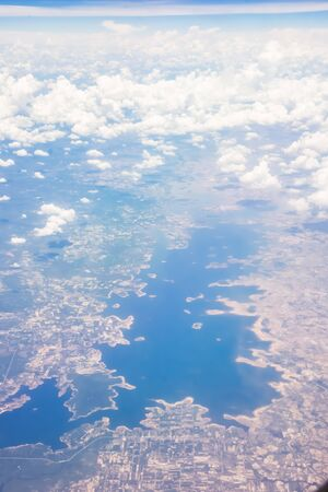above the cloud in the sky from a plane.