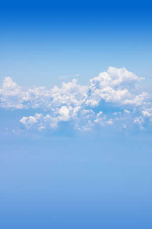 cloudscapes: above the cloud in the sky from a plane.