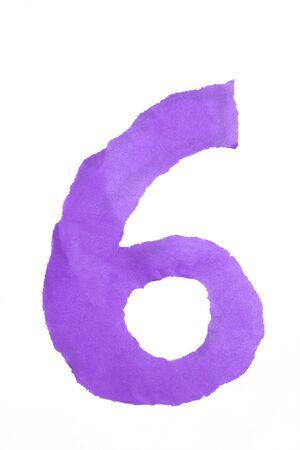 color paper digit number