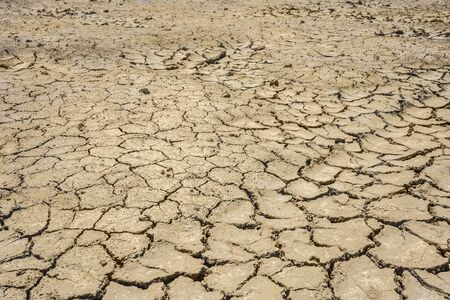 dry crack ground in concept of enviroment problem