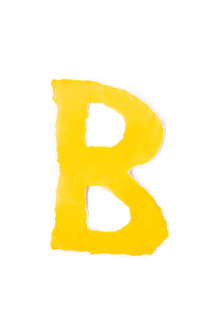 color paper capital letter alphabet