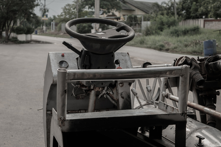 miles: steering wheel Vintage car