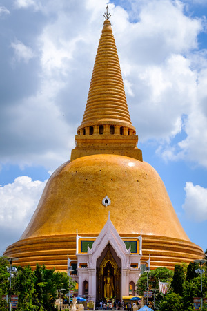 Phra Pathom Chedi biggest Sanctuary is a vital part of Thailand. Editorial