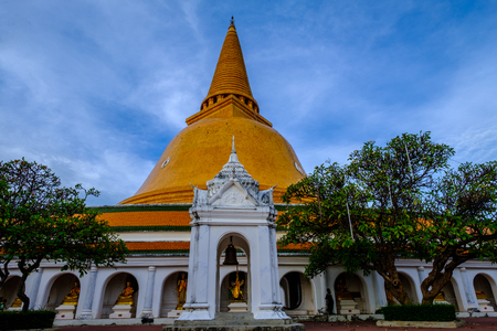 Phra Pathom Chedi biggest Sanctuary is a vital part of Thailand. Stock Photo