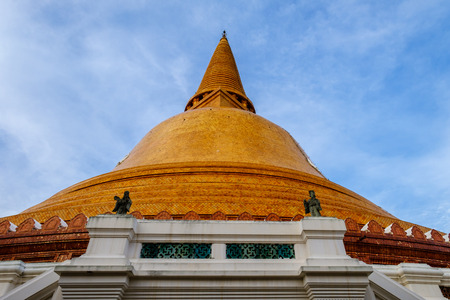Phra Pathom Chedi biggest Sanctuary is a vital part of Thailand. Stock Photo