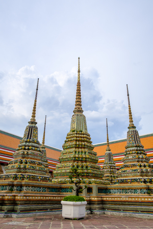 Wat Pho is a Buddhist temple complex in Bangkok, Thailand. Stock Photo