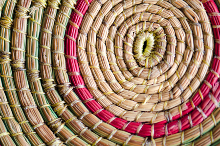 basketry: Wickerworks colorful pattern