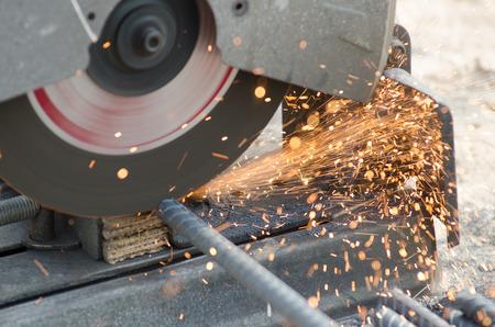 Nahaufnahme Der Industriellen Metall-Schneidwerkzeug. Kappsäge Oder ...