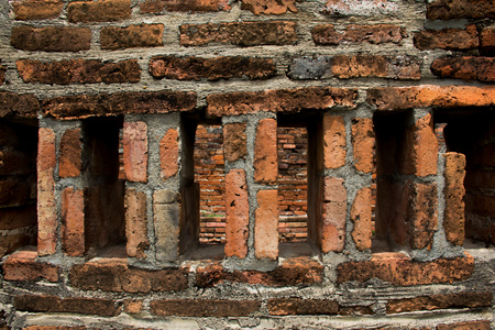 textured wall: Classical Textured Brick Wall View. Stock Photo