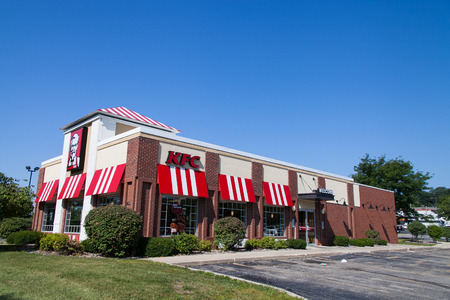 MadisonUSA - August 7 2014 : KFC fast foods restaurant in Madison, Wisconsin, USA. Wisconsin is a tributary of the Mississippi River in Wisconsin, a midwestern state in north central United States Editorial