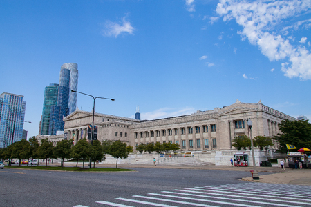 Chicago, USA - September 07 2013: The Field Museum is located on Lake Shore Drive next to Lake Michigan, part of a scenic complex the Museum Campus,in Chicago, Illinois, USA Editorial
