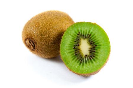 actinidia deliciosa: Green kiwi fruit Stock Photo