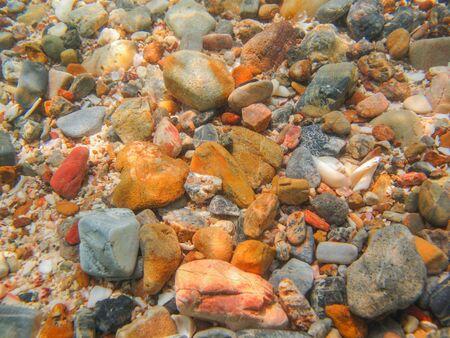 sea bed: rock beach Stock Photo