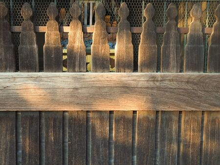 fench: Wooden fench Stock Photo