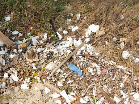 debris: Debris on the beach in Thailand