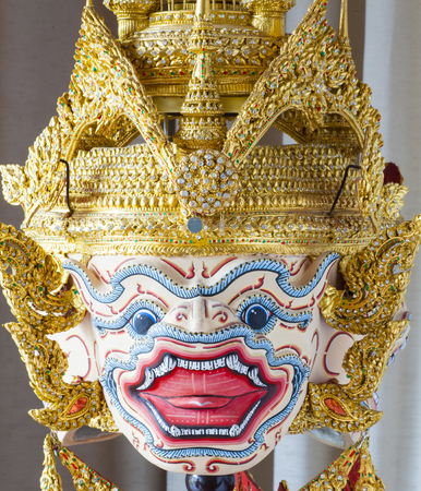khon: Khon Thai performace mask Stock Photo