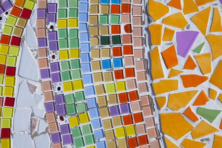 Colorful ceramic wall photo