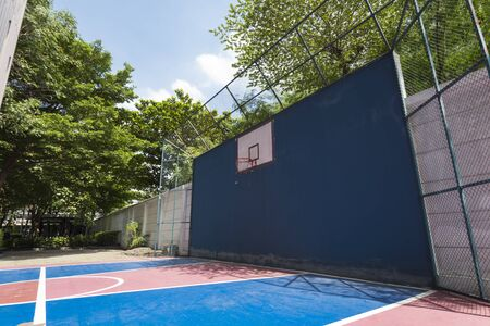 outdoor basketball court: Outdoor Basketball court Stock Photo