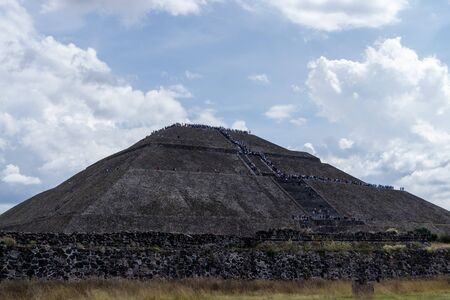 view from the bottom of the sun pyramid