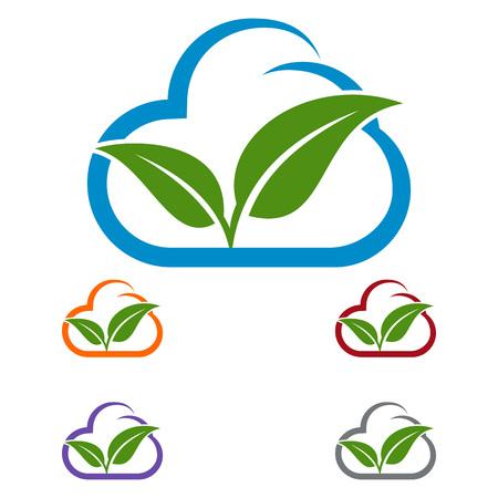 eco cloud vector