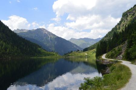 Alpine lake Фото со стока