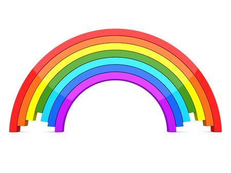 3d rainbow: 3D Rainbow on white background