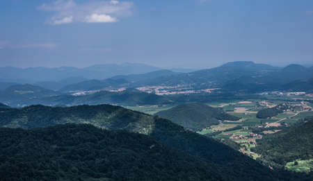 From the top of the mountain, you can see the Vall d in Bas in all its fullness.
