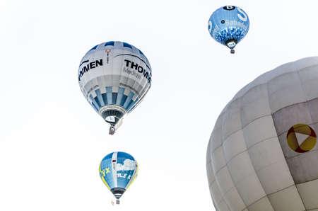 Igualada, Barcelona, July 10, 2021. 25rd European Balloon Festival. Concentration of aerostatic balloons Editorial