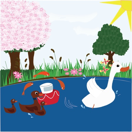 Pond Fun Vector