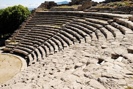 peripteral: Segesta  Greek Theatre
