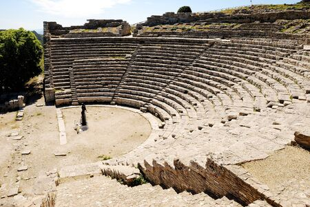 peripteral: Segesta  Greek Theatre