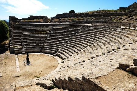 Segesta  Greek Theatre  Stock Photo - 13644360