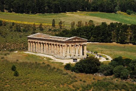 The Doric temple of Segesta Stock Photo
