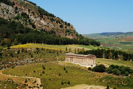 alcamo: The Doric temple of Segesta Stock Photo