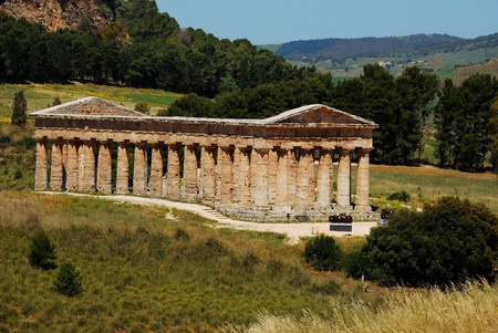 acestes: The Doric temple of Segesta Stock Photo