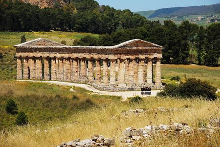 calatafimi: The Doric temple of Segesta Stock Photo