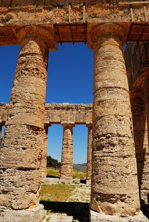 Segesta  Sicily  Greek temple Stock Photo - 16597411