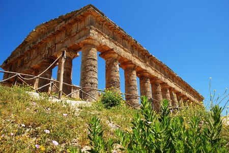 Segesta  Sicily  Greek temple Stock Photo - 16597407