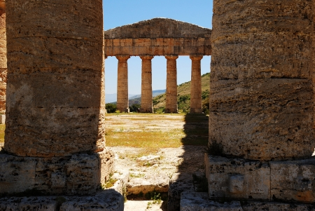 acestes: Segesta  Sicily  Greek temple Stock Photo