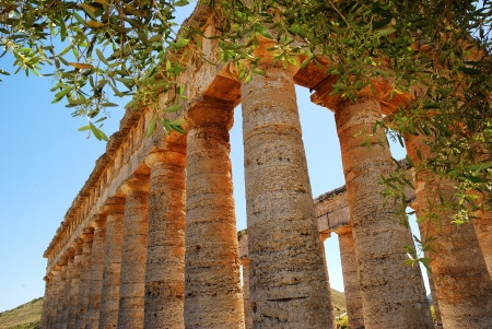 alcamo: Segesta  Sicily  Greek temple Stock Photo