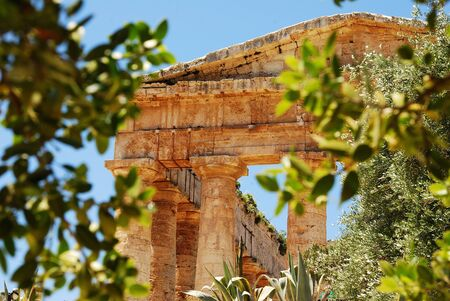 Segesta  Sicily  Greek temple Stock Photo