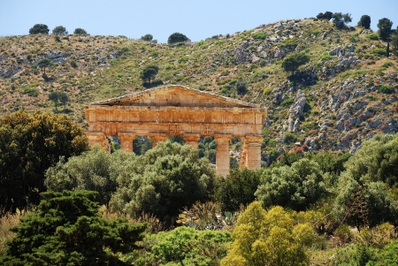 virgil: Segesta  Sicily  Greek temple Stock Photo