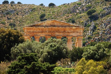 Segesta  Sicily  Greek temple Stock Photo - 16712087