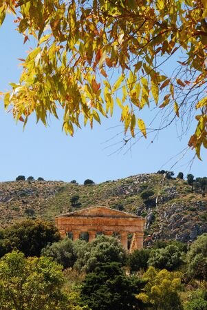 dori: Segesta  Sicily  Greek temple Stock Photo
