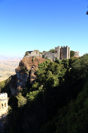 norman castle: Erice(Sicily),  Norman castle Editorial